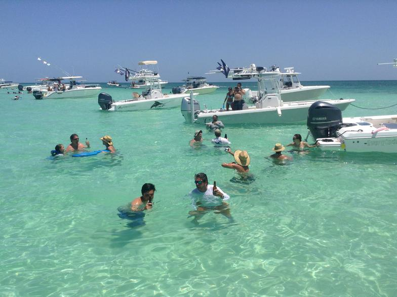 everglades rendezvous, boats, center console, fun, yacht works, tavernier, florida keys, sand bar, snorkeling